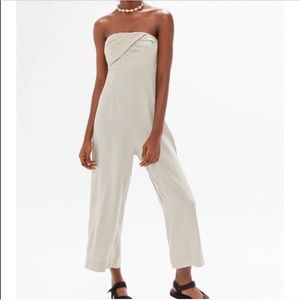 Urban Linen Strapless Jumpsuit